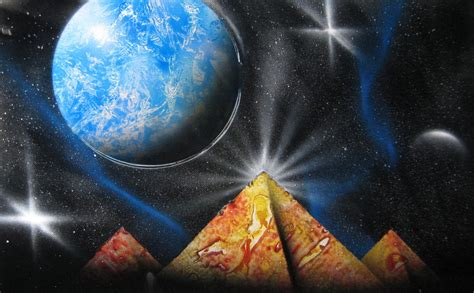 spray paint space space painting 010 by christine eige on deviantart