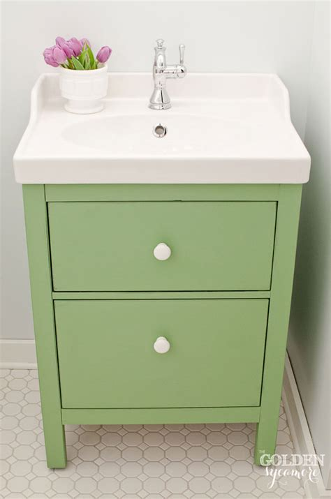 chalk paint en muebles ikea green ikea custom bathroom vanity the golden sycamore