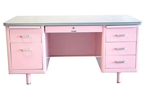 desk pink mg home office another pink desk 1950 s mcdowell craig