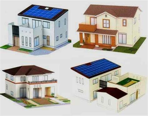 paper craft home papermau four contemporary japanese houses papercraft