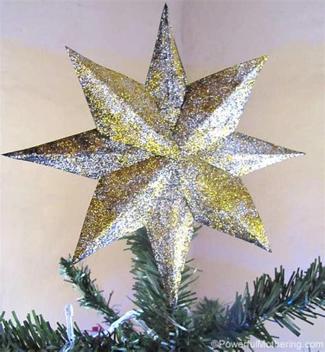 make your own tree topper diy glitter tree topper