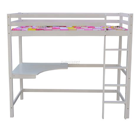 wood frame bunk beds foxhunter high sleeper cabin wood frame bunk bed with desk