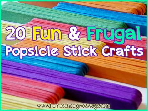 popsicle stick crafts for free 20 and frugal popsicle stick crafts