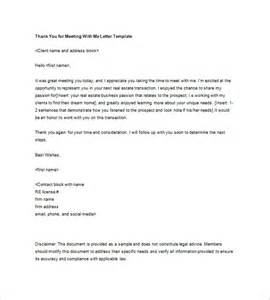 real estate thank you letter 5 free sample example