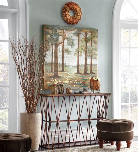decorating idea for autumn foyer decorating ideas