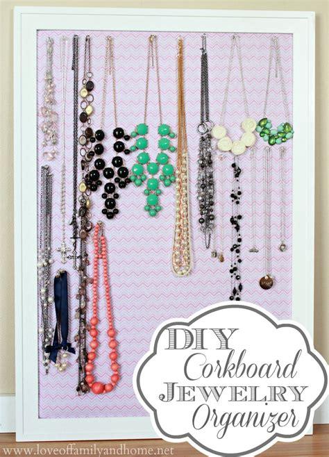 how to make jewelry organizer diy corkboard jewelry organizer of family home