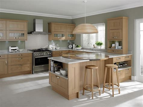 kitchen with light oak cabinets awesome light oak wooden kitchen designs light oak