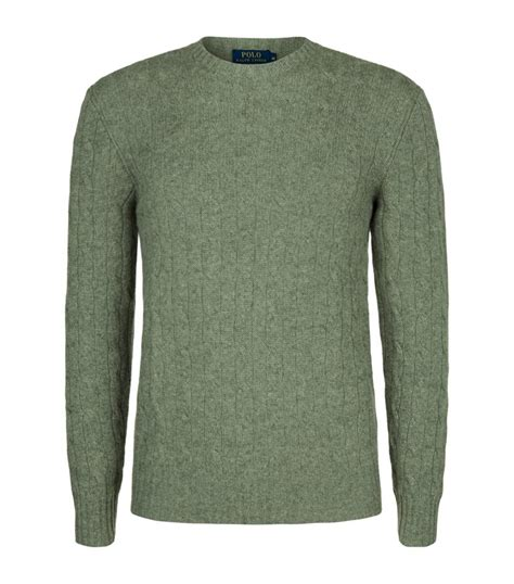 cable knit ralph sweater polo ralph cable knit sweater in green for