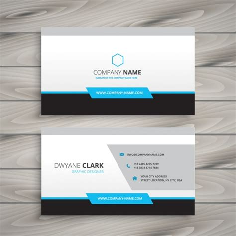 card company clean business card for company vector free