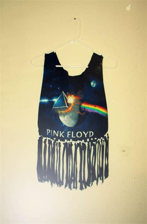 fringe beaded shirt pink floyd fringe beaded t shirt cropped tank by