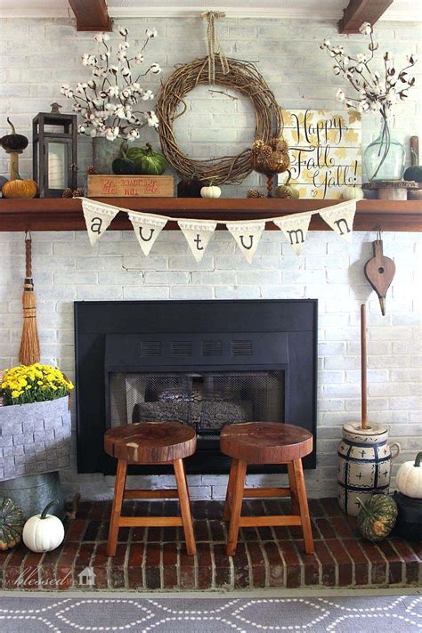 ideas for decorating your fireplace mantel for 30 amazing fall decorating ideas for your fireplace mantel