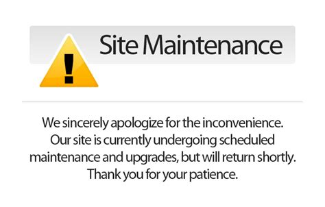 site for gscs website is for maintenance and upgrade