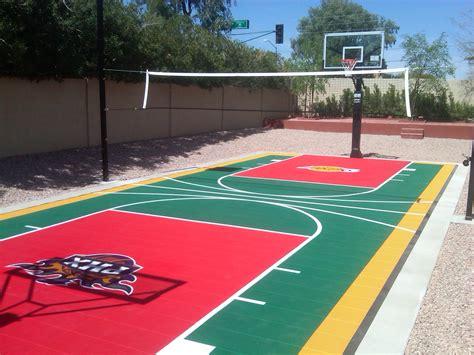 backyard sport courts sports entertaining in your arizona landscape design