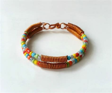 how to make metal st jewelry wire and seed bead bracelet allfreejewelrymaking