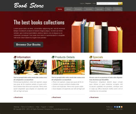 picture book websites book store website template 005 website template