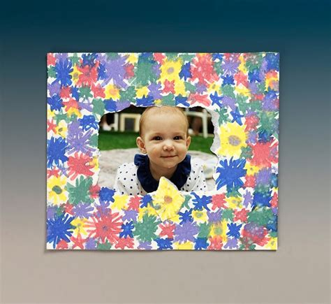 photo frame crafts for bright borders picture frame craft crayola