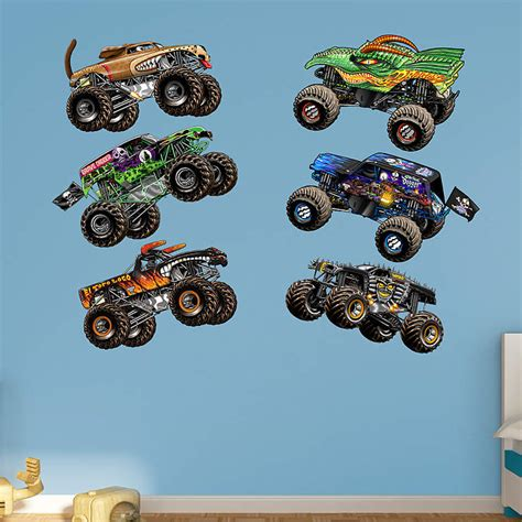 jam wall stickers jam trucks collection wall decal shop