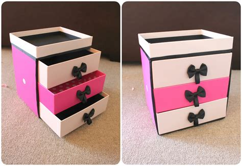 decoupage shoebox peachfizzz diy make up storage