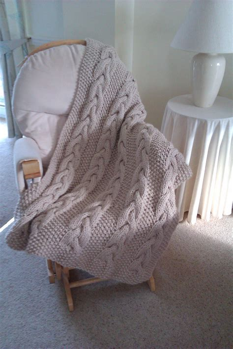 large cable knit throw big knit cable throw