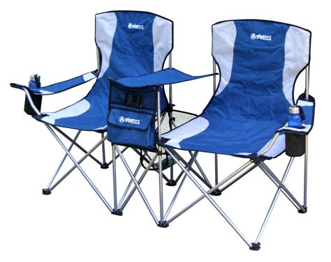 Folding Wooden Camp Chairs by Giga Tent Double Camping Chair Blue Campingcomfortably