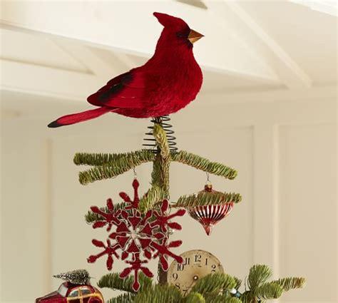 bird tree topper cardinal bird tree topper pottery barn