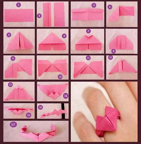 how to make a paper ring origami ayenyek cara buat origami cincin kertas
