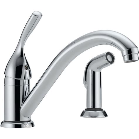 delta classic single handle standard kitchen faucet with side sprayer in chrome 175 dst the