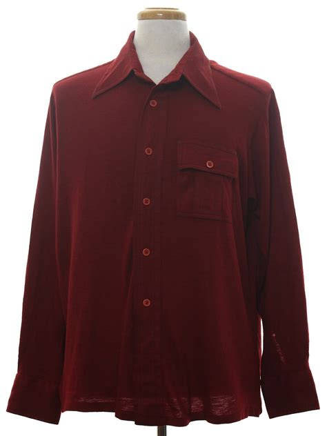 mens knit shirts retro seventies knit shirt 70s donegal mens wine