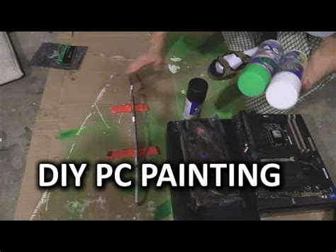spray paint motherboard how to paint your pc parts linus plasti dip method