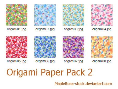 origami paper pack origami paper pack 2 by maplerose stock on deviantart