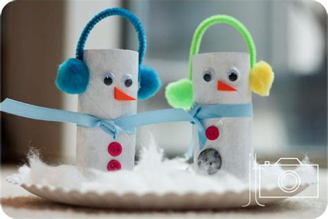 toilet paper roll snowman craft crafts for 4th grade myideasbedroom