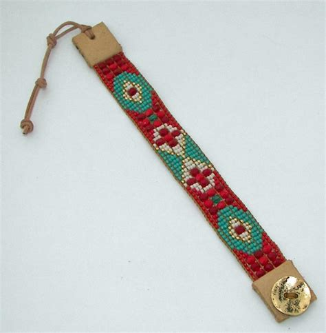 bead loom bracelets turquoise bead loom bracelet by adoradesigns on zibbet