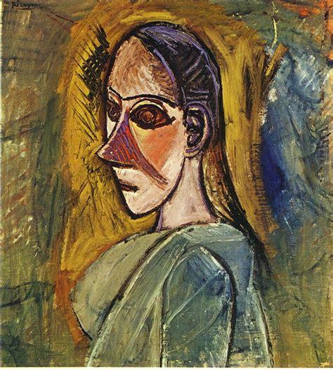 picasso paintings les demoiselles d avignon bust of from avignon 1907 pablo picasso