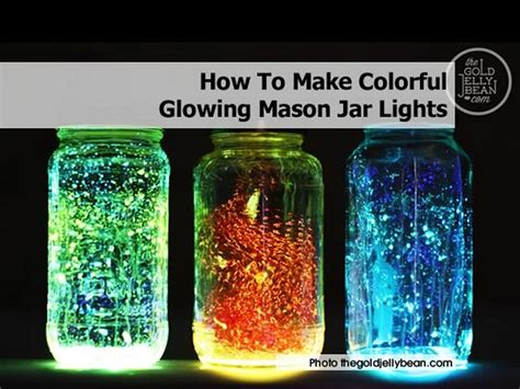 how to make lights in a jar how to make colorful glowing jar lights