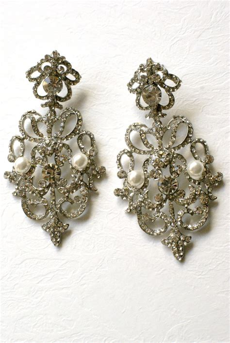 jewelry earrings handmade bridal and wedding jewelry by vintage touch