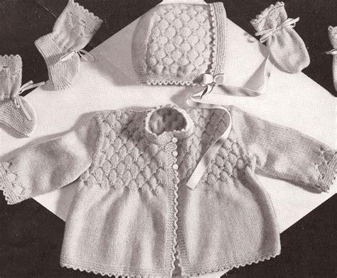 baby sets knitting patterns vintage knitting pattern baby smocking set sweater hat