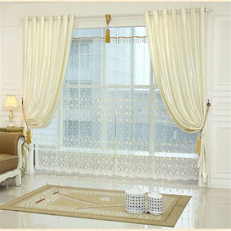 curtain sets living room white window curtain living room bedroom luxury curtains