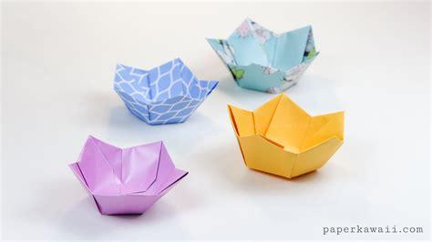 origami paper bowl origami flower bowl tutorial paper kawaii