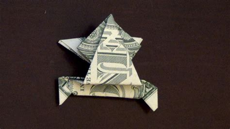 origami money frog dollar origami jumping frog how to make a dollar frog