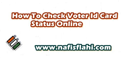 how to make voter card how to check voter id card pehchan patra status