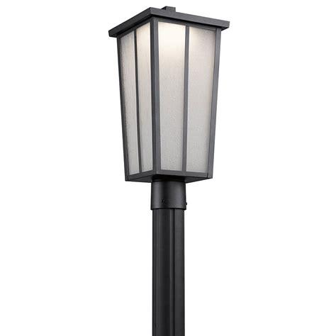 kichler exterior lighting kichler 49625bktled valley textured black led