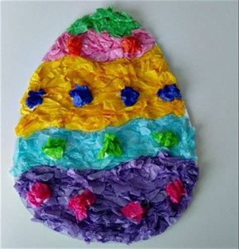 tissue paper easter crafts tissue paper easy mosaic easter egg craft we used to make