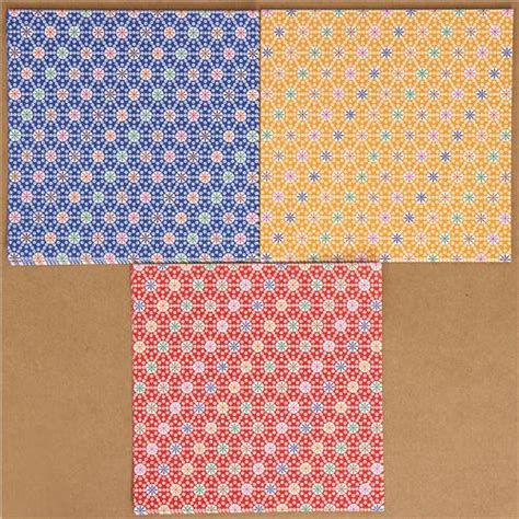 origami paper set origami paper set with flower pattern from japan other