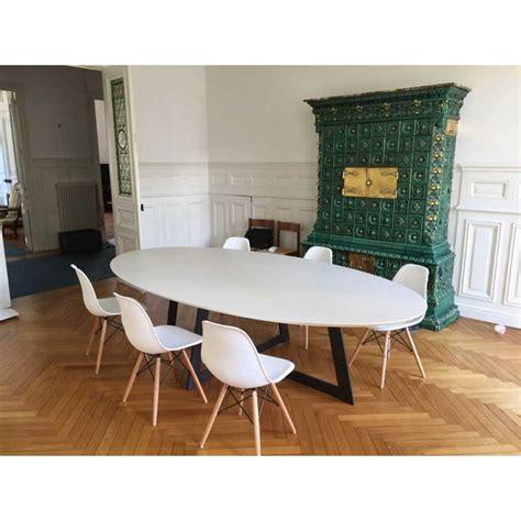 table de salle 224 manger ovale carat blanche d 233 co en ligne tables de salle a manger design