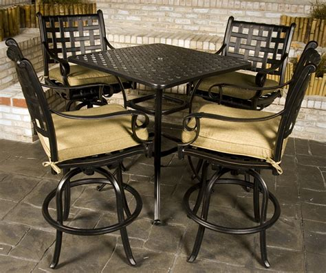 patio furniture bar height set chateau bar height outdoor patio furniture set family