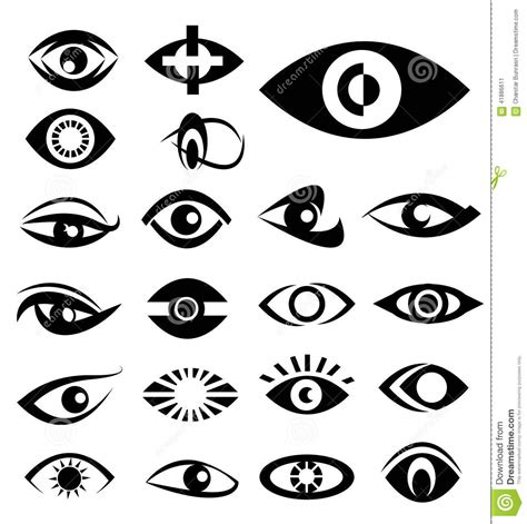 eye designs designs stock vector image 41886611