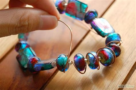 how to make a beaded bracelet with wire how to make a wire wrapped beaded bracelet