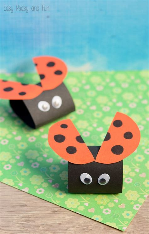 easy paper crafts for children simple ladybug paper craft easy peasy and