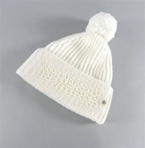 white knit hat chanel winter white knit toque hat at 1stdibs