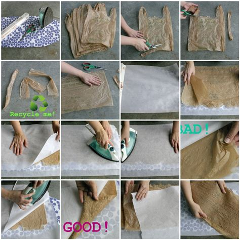 how to make a bag out of dabbled tutorial fusing plastic or how to make